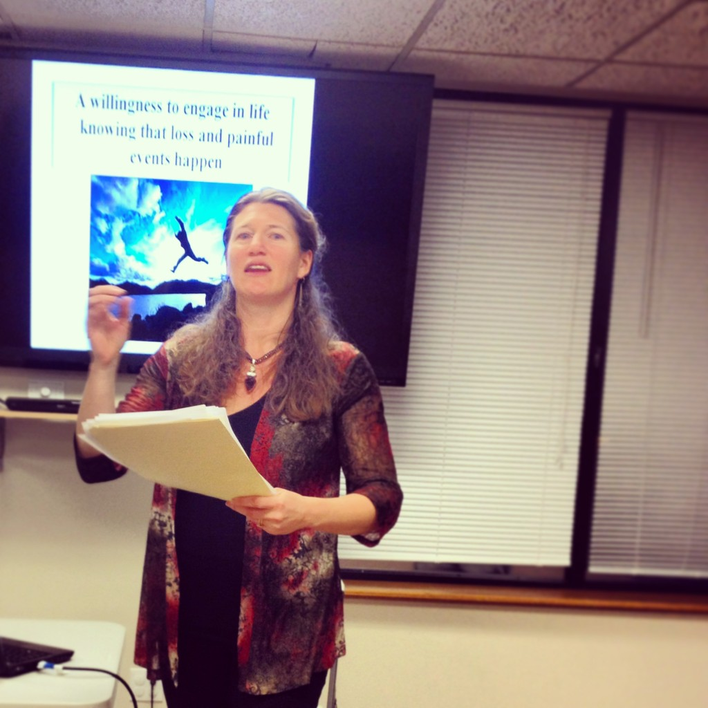 Photo of Dr. arielle schwartz presenting on resilience informed trauma treatment for therapists
