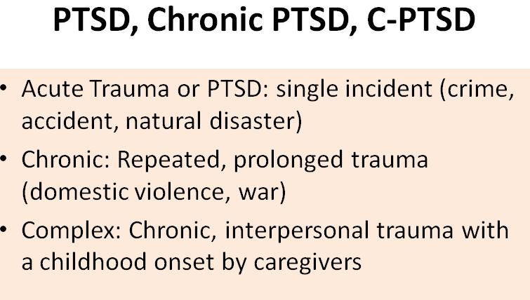 Rencontrer quelqu'un avec PTSD complexe